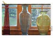 Three Glass Vases In A Window Carry-all Pouch