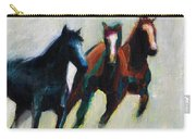 Three Horses On The Diagonal Carry-all Pouch