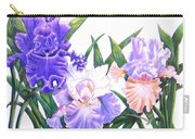 Three Irises Carry-all Pouch