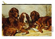 Three Irish Red Setters Carry-all Pouch by John Emms