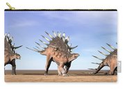 Three Kentrosaurus Dinosaurs Standing Carry-all Pouch by Elena Duvernay