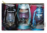 Three Kerosene Lamps Carry-all Pouch