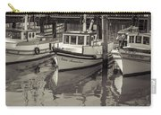 Three Little Boats Sepia Carry-all Pouch