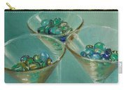 Three Martini Glasses With Jewels Carry-all Pouch