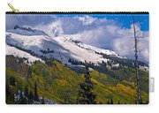 Three Needles Autumn Snow Carry-all Pouch