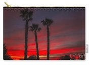 Three Palm Sunset Carry-all Pouch