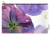 Three Pansies Carry-all Pouch