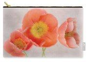 Three Peach Poppies Carry-all Pouch