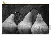 Three Pear Still Life Black And White Carry-all Pouch by Edward Fielding