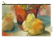 Three Pears And A Pot Carry-all Pouch by Michelle Abrams
