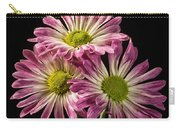 Three Pink Flowers Carry-all Pouch