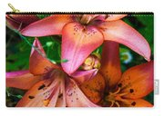 Three Pink Lilies Carry-all Pouch by Omaste Witkowski