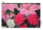 Three Pink Poinsettias Carry-all Pouch