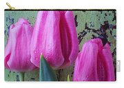 Three Pink Tulips Carry-all Pouch