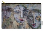 Three Portraits On Paper Carry-all Pouch