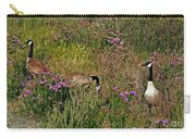 Three Quiet Canada Geese Carry-all Pouch by Susan Wiedmann