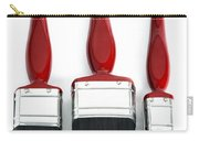 Three Red Paint Brushes Carry-all Pouch