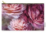 Three Roses Burgundy Greeting Card Carry-all Pouch