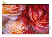 Three Roses Red Greeting Card Carry-all Pouch
