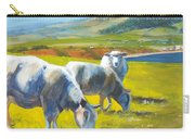Three Sheep On A Devon Cliff Top Carry-all Pouch