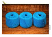 Three Skeins Of Knitting Yarn Carry-all Pouch