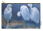 Three Snowy Egrets Carry-all Pouch