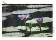 Three Stages Of Blue Bloom Carry-all Pouch
