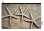 Three Starfish Carry-all Pouch by Carol Leigh