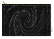 Three Swirls On Black Carry-all Pouch