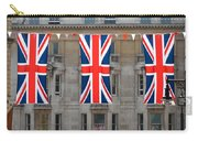 Three Union Jack Flags Carry-all Pouch