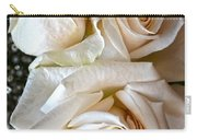 Three White Roses Carry-all Pouch