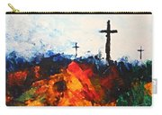 Three Wooden Crosses Carry-all Pouch