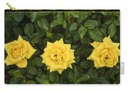 Three Yellow Roses Carry-all Pouch