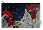 Three's A Crowd   -    Roosters -chicken Carry-all Pouch