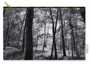 Through The Trees In Black And White Carry-all Pouch