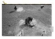 Thrown Bull Rider Rodeo Tohono O'odham Reservation Sells Arizona 1969  Carry-all Pouch