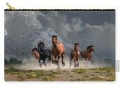 Thunder On The Plains Carry-all Pouch by Daniel Eskridge
