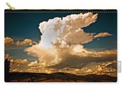 Thunderhead Over The Blacktail Plateau Carry-all Pouch by Marty Koch