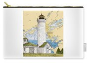 Tibbetts Pt Lighthouse Ny Lake Ontario Nautical Chart Map Art Carry-all Pouch