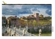 Tiber River In Rome Carry-all Pouch