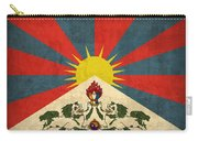 Tibet Flag Vintage Distressed Finish Carry-all Pouch