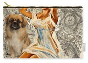 Tibetan Spaniel Art - Una Parisienne Carry-all Pouch by Sandra Sij