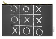 Tic-tac-toe On A Chalkboard Carry-all Pouch