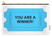 Ticket Blue Carry-all Pouch