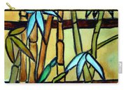 Stained Glass Tiffany Bamboo Panel Carry-all Pouch