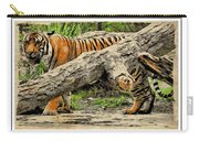 Tiger By The Log Carry-all Pouch