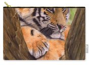 Tiger Cub Painting Carry-all Pouch by David Stribbling