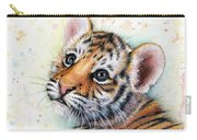 Tiger Cub Watercolor Art Carry-all Pouch