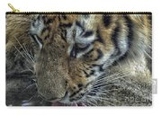 Tiger Drinking Carry-all Pouch