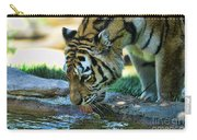 Tiger Drinking Water Carry-all Pouch